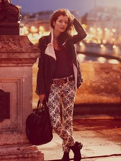 Free People Brocade Flocked Skinny at Free People Clothing Boutique