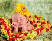 Bright Color Photography Prop Blanket Newborn Prop Blanket Soft 'Cirque' Green, Red, Yellow Infant Prop Rug. $65,00, via Etsy.