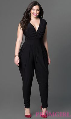 INC International Concepts Plus Size Surplice Tapered Jumpsuit Looks Plus Size, Look Plus, Curvy Fashion, Girl Fashion, Fashion Dresses, Womens Fashion, Plus Size Prom Dresses, Plus Size Outfits, Homecoming Dresses