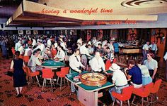 Gambling Casino, Las Vegas, NV | Here in Las Vegas you will find the largest and most beautiful gambling casinos in the world. In Nevada, gambling is not only legal but ranks as one of the state's most important industries.  Postmarked April 14, 1975