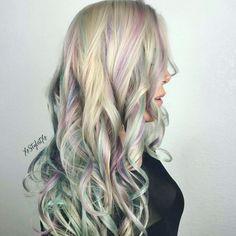 Opalescent hair by xo hairstylist #opalhair #rainbowhair #haircolor #hair styles #silverhair #unicornhair #opalescenthair #vividhair