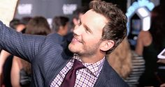 """Chris Pratt takes selfies with fans at the premiere of """"The Magnificent Seven' during the 2016 Toronto International Film Festival on September 8, 2016 in Toronto, Canada."""