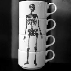 #skeleton #stacked #cups