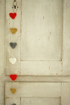 Gorgeous for the bedroom door, yes. I always thought of doing them all in red but I think these colours look so lovely.