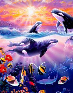 Underwater Whale Decals