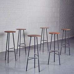 Industrial Bar Stool leather and Steel by Homebarn