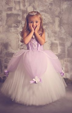 Sofia the First Tutu Dress SZ 05 YR by lauriestutuboutique on Etsy, $97.50 Maybe for Halloween or Ella's Birthday party!