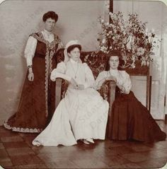Princess Irene of Prussia, Grand Duchess Elizabeth, & Grand Duchess Marie Pavlovna (The Younger), 1906 Alexandra Feodorovna, February Revolution, Grand Duc, Princess Victoria, Queen Victoria, Princess Alice, Imperial Russia, Royal House, Niece And Nephew