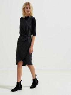 GLITTERING - SLEEVELESS DRESS, Black, large