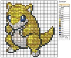 27 - Sandshrew by ~Makibird-Stitching on deviantART