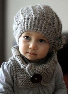 Patrón para hacer este gorro>> http://j.mp/19LbVpI / Child wool hat pattern
