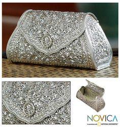 Sterling silver handbag