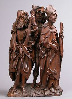 Saints Christopher, Eustace, and Erasmus (Three Helper Saints), The Cloisters, NYC.  I love the searching looks on their faces.