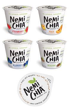 Vegan spoonable chia with fruit on the bottom NemiChia via @thedieline