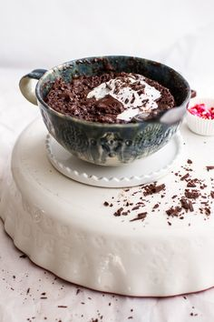 Single Lady 5-Minute Gooey Molten Chocolate Mug Cake | halfbakedharvest.com @hbharvest