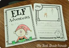 Great for introducing the elf! Awesome ideas and freebies for Elf on the Shelf in the classroom from The First Grade Parade! Holiday Classrooms, Classroom Crafts, Classroom Activities, Preschool Bulletin, Classroom Ideas, First Grade Parade, Kindness Elves, First Grade Writing, Christmas Elf