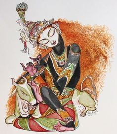 krishna painting source unknown from web