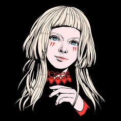 "yukkeart: "" I drew AURORA! I love her voice and atmosphere! Aurora Aksnes, Aurora Tattoo, Aurora Fashion, Online Themes, Old Country Churches, Architecture Tattoo, Wedding Humor, Aurora Borealis, Art Sketchbook"