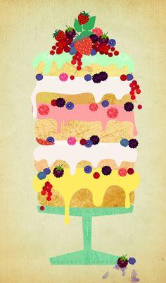 Fairy Cake Art Print by Elisandra/Society6