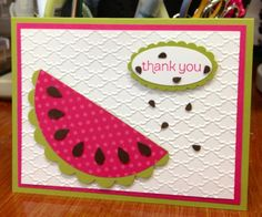 stampin up watermelon card | Here is the inspiration for one of the inserts.....