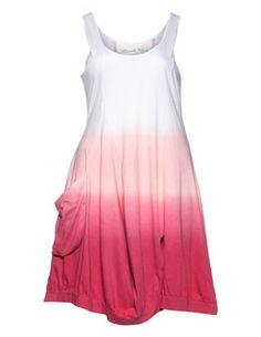 Cotton dress with slit in White / Pink designed by Ultimate Miks to find in Category Dresses at navabi.de