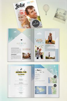 Wedding invitations and programs on pinterest wedding for Souvenir program template