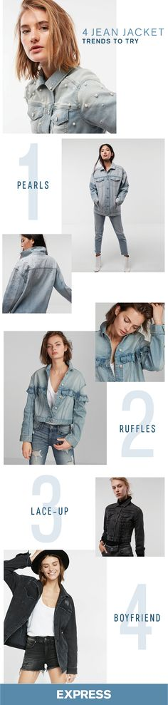 Try these new jean jacket styles to top off your causal cute winter outfits.