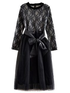 Shop Black Lace Long Sleeve Midi Dress from choies.com .Free shipping Worldwide.$44.09
