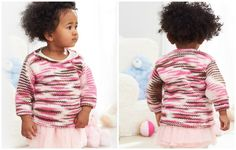 Layered Stripes Baby Knit Pullover