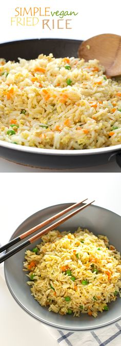 Simple Vegan Rice #v