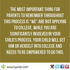 Let your child be independent.