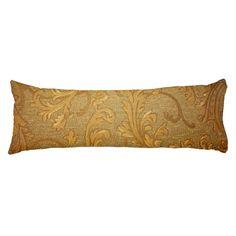 Antique,gold,vintage,damask,victorian,floral Body Pillow