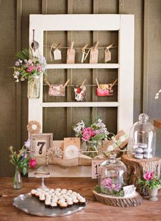 another cute idea for old window frame  and mason jars!