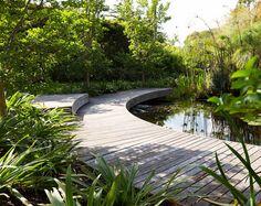 I would love a ornamental lake and boardwalk