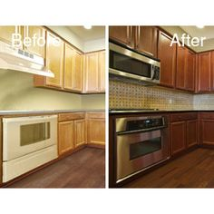 General finishes brown mahogany for the home pinterest - Change kitchen cabinet color ...