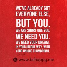 What we need. | Jon Acuff's Blog