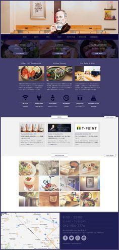 福岡にあるカフェ「Saturday . AND READY」のサイト。 飲食店では珍しい紫色を基調とした配色です。この色を選んだということは、デザインにこだわっているようで、内装もオシャレですね。Webデザインももちろん…