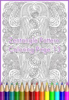 Coloring page adult and children  PDF zentangle by ZentangleHouse