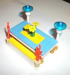 > > $12.50 < <  #ebay #legofriends LEGO Friends Custom Patio Set Furniture Light Blue tiles Flowers 87580 4 41015  #LEGO