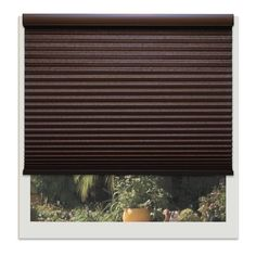 Linen Avenue Chocolate 64-inches to 65-inches Wide Custom Cordless Light-filtering Cellula (65 3/4 W x 78 to 84 H), Brown (Polyester)