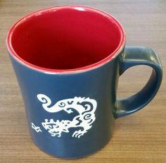 2011 Starbucks Coffee 16oz Komodo Dragon Mug Limited Edition Dark Blue/Grey