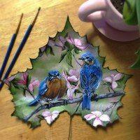 Картины на опавших листьях Живопись без границ