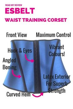 SHAPEWEAR REVIEW: Esbelt Waist Training Waist Cincher Corset ES062. MAXIMUM slimming control. GORGEOUS colours. 4 ANGLED bones for SUPERB shape and flexibility. Wear whilst you are working out in the gym for ACCELERATED results! SHAPEWEAR REVIEWS | WAIST CINCHERS | WAIST TRAINING