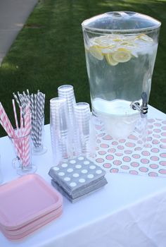 Pink and Grey baby shower, could work for blue and grey too