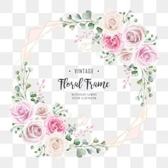 Elegant Wedding Watercolor Floral Frame With Geometric Golden Frame PNG and PSD Invitation Floral, Lace Wedding Invitations, Frame Floral, Flower Frame, Watercolor Wedding, Floral Watercolor, Watercolor Leaves, Wedding Background, Frame Background