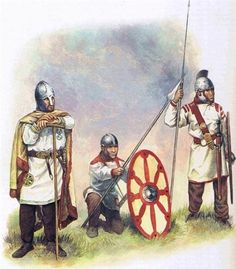Fourth and fifth century Roman troops. What remains a mystery is the sudden disappearance of effective Roman fighting troops outside Italia in the West by the late fifth century, while in the East, the foundations were being laid for the highly capable armies that reconquered much of the west under Justinian and brought the Persian Empire to its knees under Heraclius.