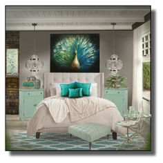 """"""" Serenity"""" by eco-art ❤ liked on Polyvore featuring interior, interiors, interior design, home, home decor, interior decorating, Grain Wood Furniture, VCNY, Skyline and Home Decorators Collection"""