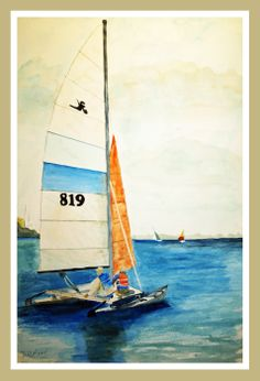 """11"""" X 14"""" Watercolor The RACE"""
