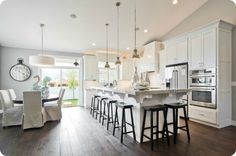 white kitchen and dark floors = love