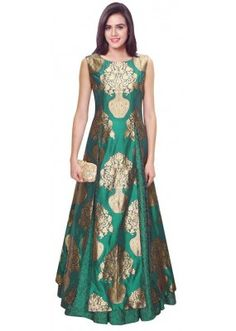 Bollywood Replica - Designer Green Jacquard Silk Lehenga Suit - LS04